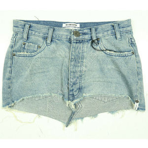 One x OneTeaspoon Relaxed Denim Mini Skirt